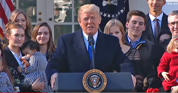 History Made; President Trump: 'I am Truly Proud to Stand with You' Who Are Pro-life