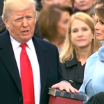 President Trump Bible Inaugeration