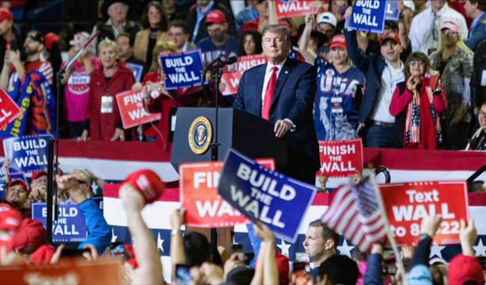 Cheering Crowds Greet President Trump in Maine with 'USA! USA! USA!'