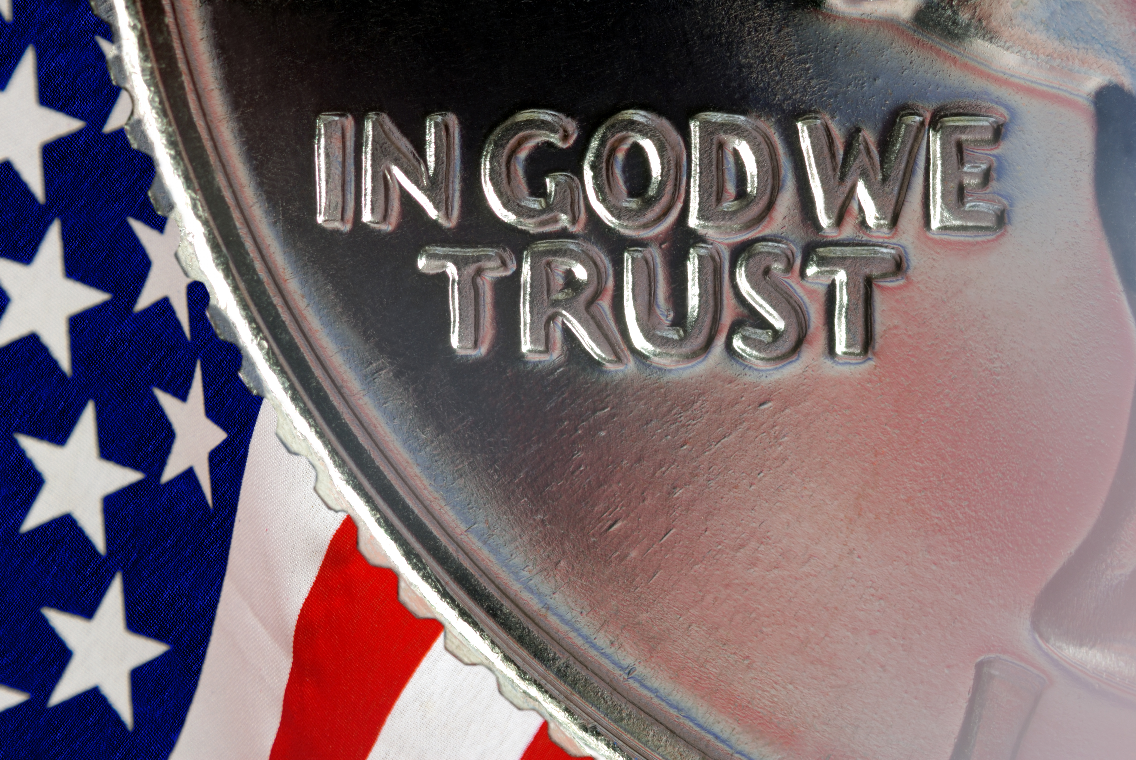 In God We Trust and American Flag